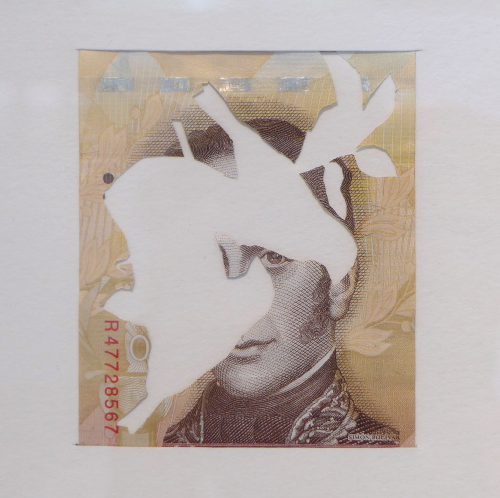 SE FUERON LOS CARDENALITOS There they went, the Cardenalitos Venezuelan bill with the animal prints cut out 2015